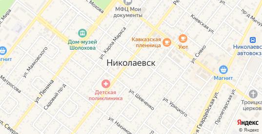 Проезд Белинского в Николаевске с номерами домов на карте. Спутник и схема онлайн