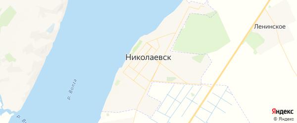 Карта Николаевска с районами, улицами и номерами домов: Николаевск на карте России