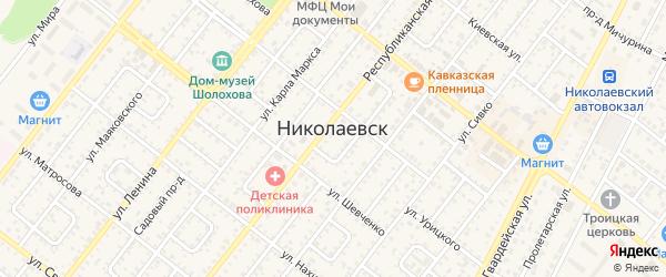Дубовский проезд на карте Николаевска с номерами домов