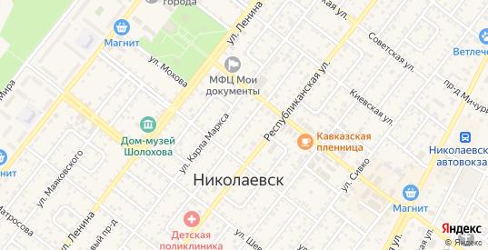 Проезд Хмельницкого в Николаевске с номерами домов на карте. Спутник и схема онлайн