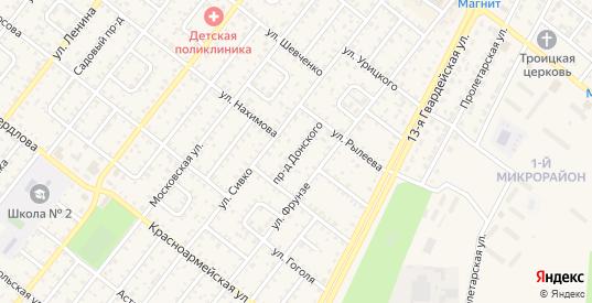 Проезд Донского в Николаевске с номерами домов на карте. Спутник и схема онлайн