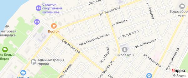 Проезд Красноюрченко на карте Николаевска с номерами домов