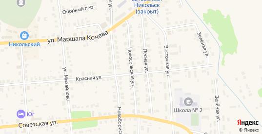 Новосельская улица в Никольске с номерами домов на карте. Спутник и схема онлайн