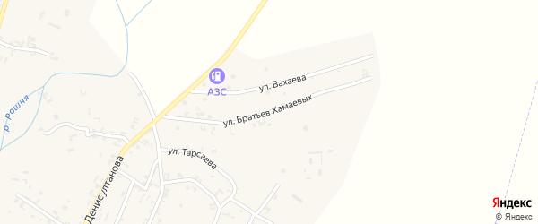 Улица Братьев Хамаевых на карте села Рошни-Чу Чечни с номерами домов