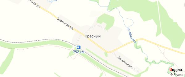 Карта Красного поселка в Пензенской области с улицами и номерами домов