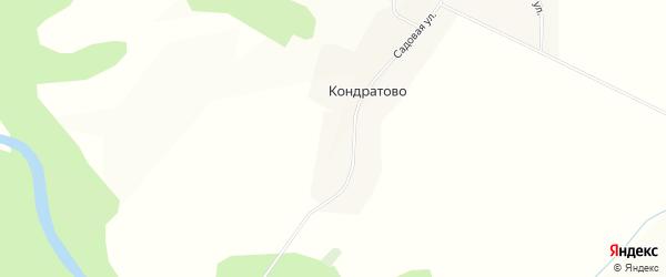 Карта деревни Кондратово в Вологодской области с улицами и номерами домов