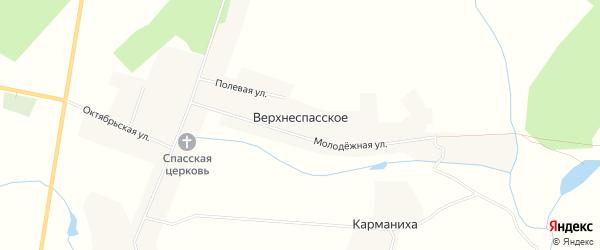 Карта Верхнеспасского села в Костромской области с улицами и номерами домов