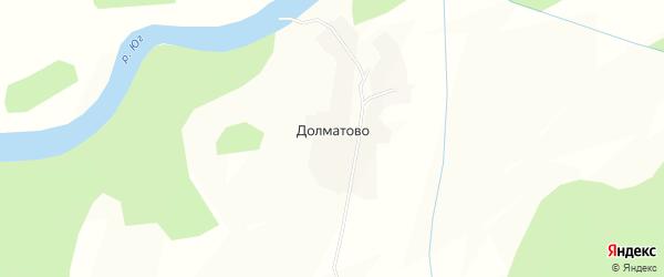 Карта деревни Долматово в Вологодской области с улицами и номерами домов