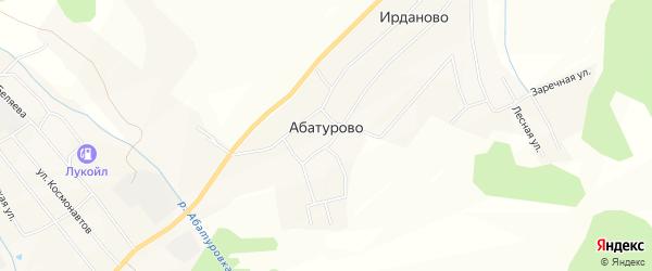 Карта деревни Абатурово в Вологодской области с улицами и номерами домов