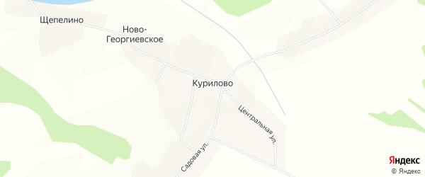 Карта деревни Курилово (Погосское с/п) в Вологодской области с улицами и номерами домов