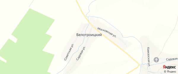 Карта Белотроицкого поселка в Мордовии с улицами и номерами домов