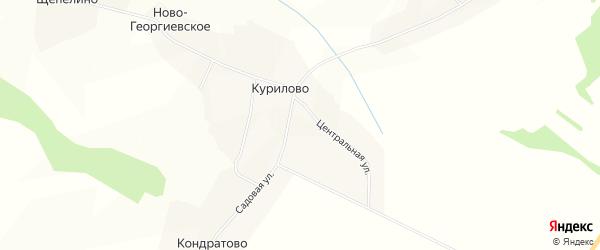 Карта деревни Курилово (Куриловское с/п) в Вологодской области с улицами и номерами домов