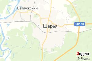 Карта г. Шарья Костромская область
