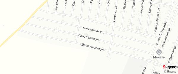 Просторная улица на карте Урус-мартана Чечни с номерами домов