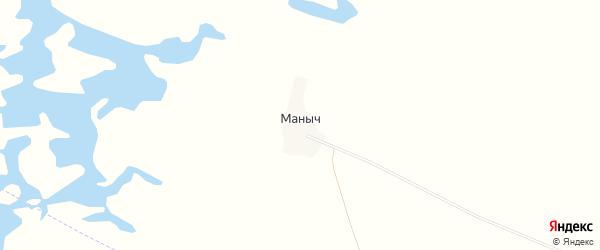 Карта поселка Маныча в Калмыкии с улицами и номерами домов