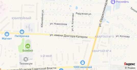 Улица им доктора Катерли в Шарье с номерами домов на карте. Спутник и схема онлайн