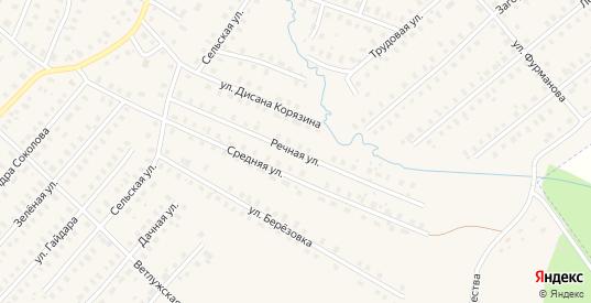Речная улица в Шарье с номерами домов на карте. Спутник и схема онлайн