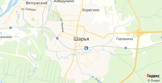 Карта Шарьи с улицами и домами подробная. Показать со спутника номера домов онлайн