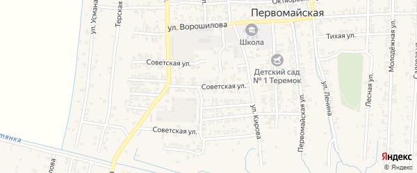 Советская улица на карте Первомайской станицы с номерами домов