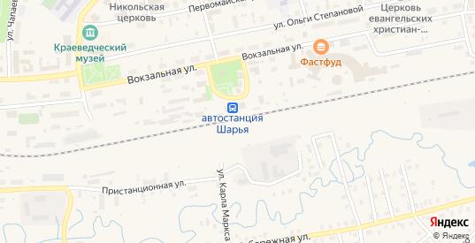 ГСК 6 (р-н Совхоза-техникума) в Шарье с номерами домов на карте. Спутник и схема онлайн