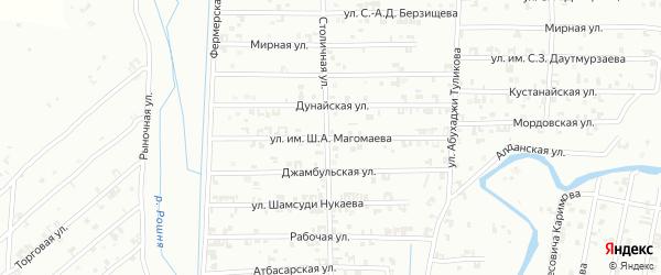 Дунайская улица на карте Урус-мартана Чечни с номерами домов