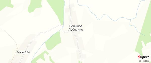 Карта деревни Большого Лубозино в Вологодской области с улицами и номерами домов