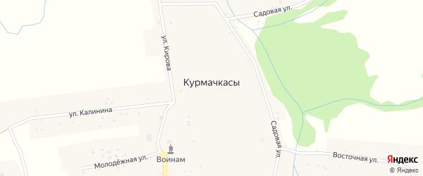 Садовая улица на карте села Курмачкасы Мордовии с номерами домов