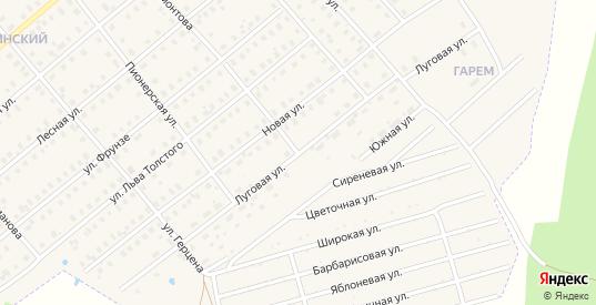 Луговая улица в Шарье с номерами домов на карте. Спутник и схема онлайн