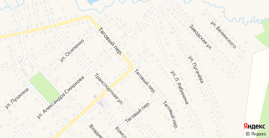 Тяговый переулок в Шарье с номерами домов на карте. Спутник и схема онлайн