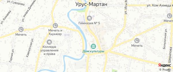 Транзитная улица на карте Урус-мартана с номерами домов