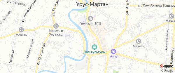 Улица Хусейна Исаева на карте Урус-мартана с номерами домов