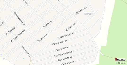 Южная улица в Шарье с номерами домов на карте. Спутник и схема онлайн