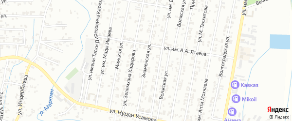 Знаменская улица на карте Урус-мартана с номерами домов