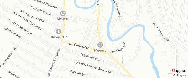 Улица Каланчакский 2-й на карте Урус-мартана Чечни с номерами домов
