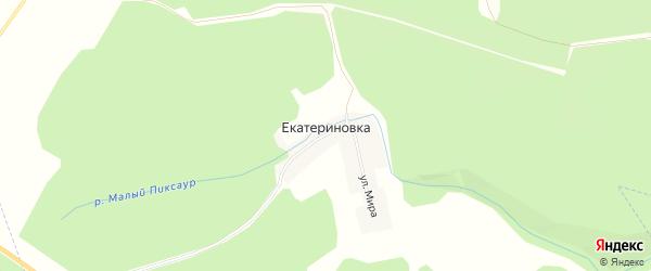 Карта деревни Екатериновки в Мордовии с улицами и номерами домов