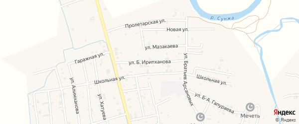 Улица Б.Ирипханова на карте села Алхан-Юрт с номерами домов