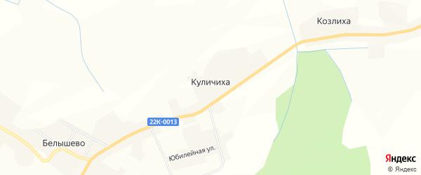 Карта деревни Куличихи в Нижегородской области с улицами и номерами домов