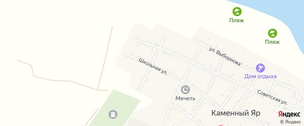 Рыжковская улица на карте села Каменного Яра с номерами домов