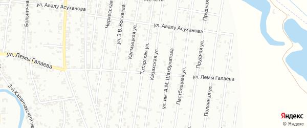 Казахская улица на карте Урус-мартана с номерами домов