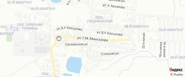 Турбинная улица на карте Грозного с номерами домов