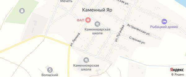 Бундинская улица на карте села Каменного Яра Астраханской области с номерами домов