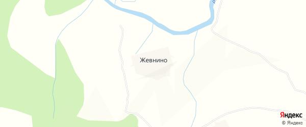 Карта деревни Жевнино в Вологодской области с улицами и номерами домов
