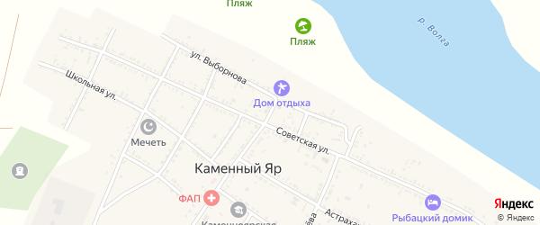Улица Г.Самитовой на карте села Каменного Яра Астраханской области с номерами домов