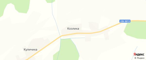 Карта деревни Козлихи в Нижегородской области с улицами и номерами домов