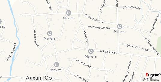 Улица им Ворошилова в Грозном с номерами домов на карте. Спутник и схема онлайн