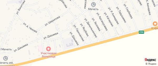 Улица Ш.Гериханова на карте села Алхан-Юрт с номерами домов