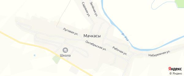 Карта села Мачкасы в Пензенской области с улицами и номерами домов