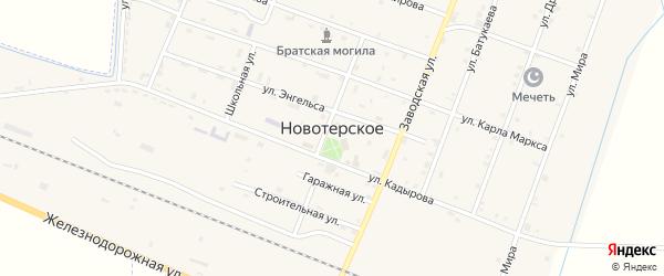 Улица Амаева на карте Новотерского села с номерами домов