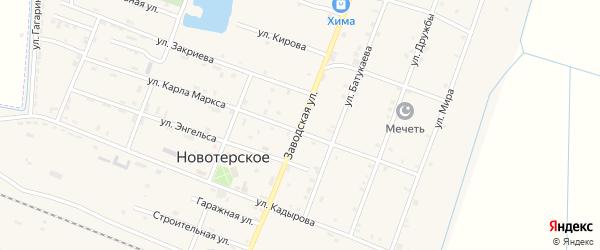 Заводская улица на карте Новотерского села с номерами домов