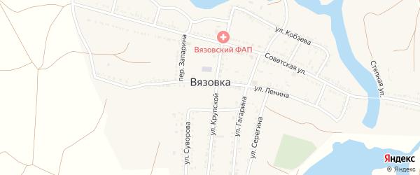 Казанская улица на карте села Вязовки с номерами домов
